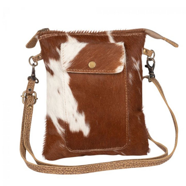 LEATHER LITHE HAIRON SMALL BAG BY MYRA BAGS