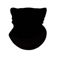 BLACK - SOLID FACE BANDANA