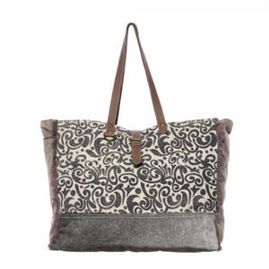 FLORAL PRINT WEEKENDER BAG BY MYRA BAGS