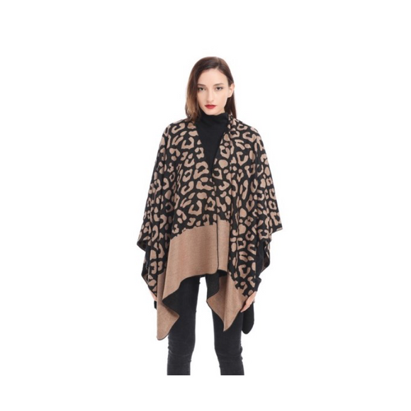 CHEETAH PRINT CAPE