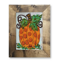 POLKA DOT PUMPKIN FRAMED ART by baxter & me