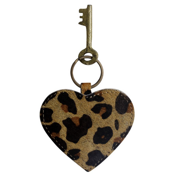 ANTIQUE HEART SHAPED KEYCHAIN BY Myra Bags