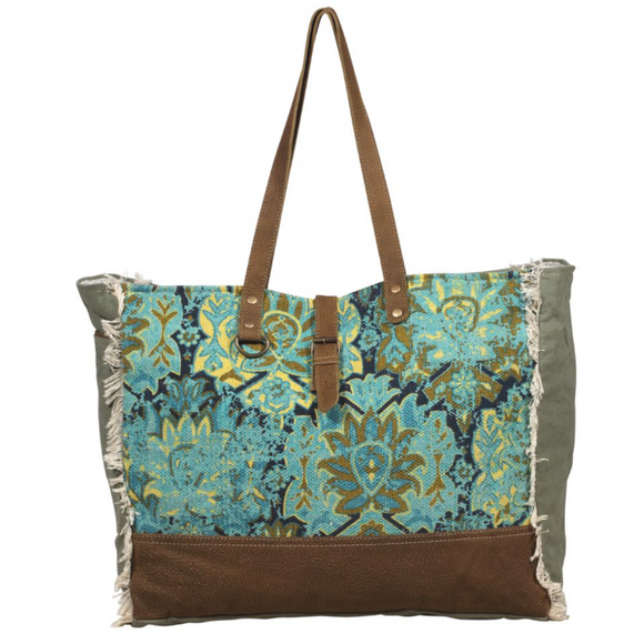 AQUA MAGIC WEEKENDER BAG by MYRA BAGS