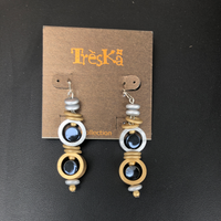MERCURY DOUBLE DROP EARRINGS