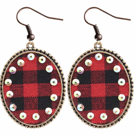BUFFALO PLAID ROUND