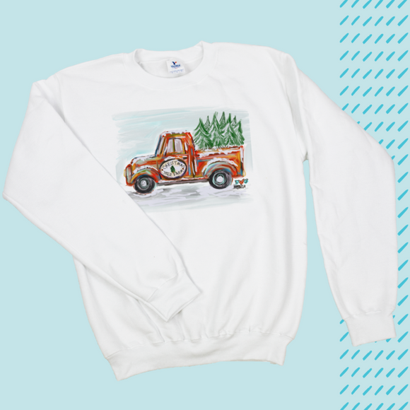 CHRISTMAS TREE FARM SWEATSHIRT by LUCKYBIRD CLOTHING CO.