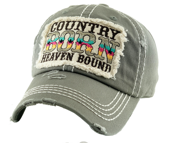 COUNTRY BORN HEAVEN BOUND BALLCAP / HAT