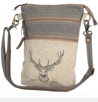 DOUBLE ZIPPER DEER CROSSBODY