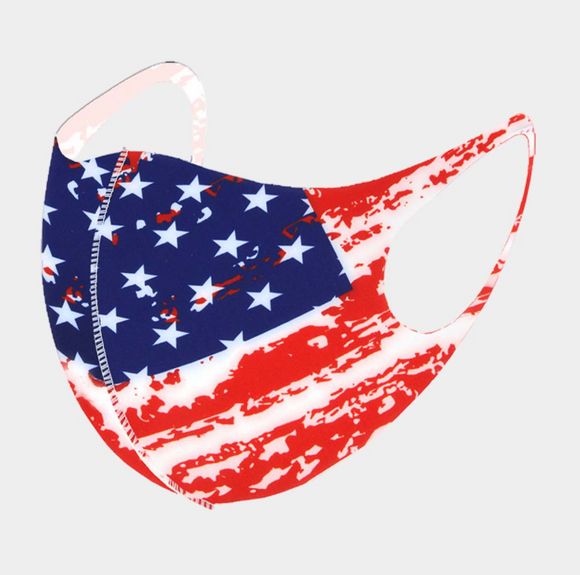 AMERICAN FLAG FASHION FACE MASK