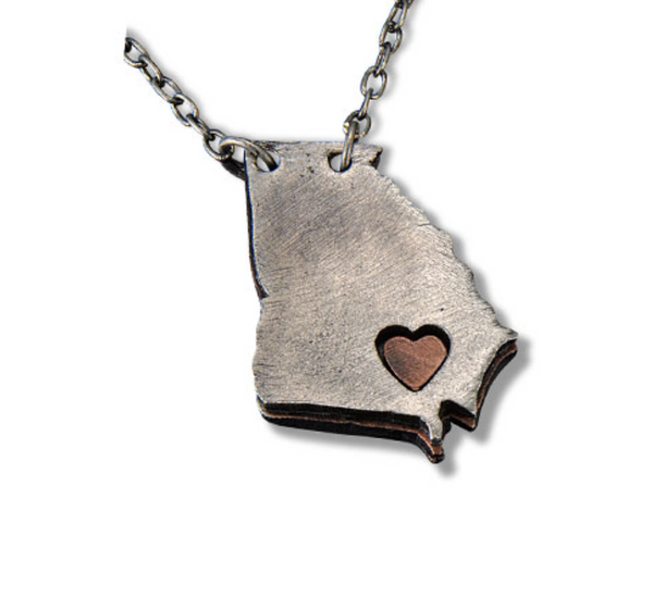 MY HEART BELONGS TO GA NECKLACE