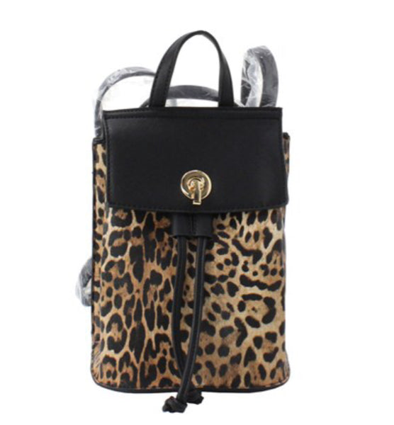 BACKPACK (SM) LEOPARD - BLK