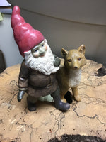 SANTA GNOME & FOX FIGURINE
