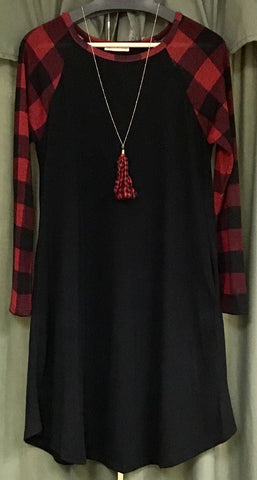 BUFFALO RED PLAID DRESS