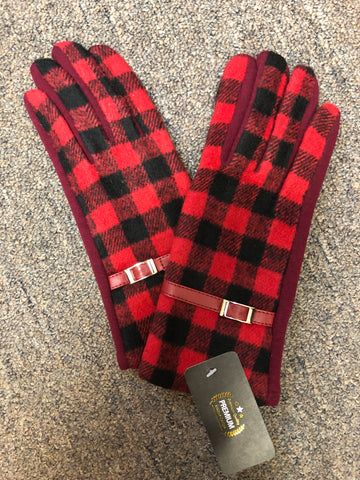 GLOVES - BUFFALO PLAID