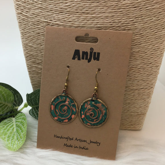 ANJU SPIRAL PATINA EARRINGS