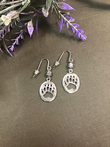 HANDMADE BEAR PAW EARRINGS (STAINLESS STEEL)