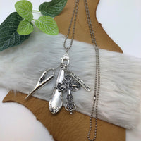 HANDCRAFTED SILVERWARE FLIGHT COLLECTION NECKLACE