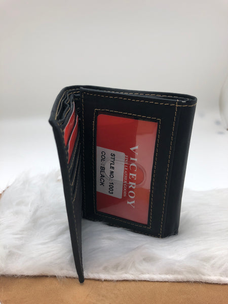 MEN'S TRI-FOLD LEATHER WALLET