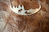 HANDCRAFTED STAINLESS STEEL ART NECKLACE