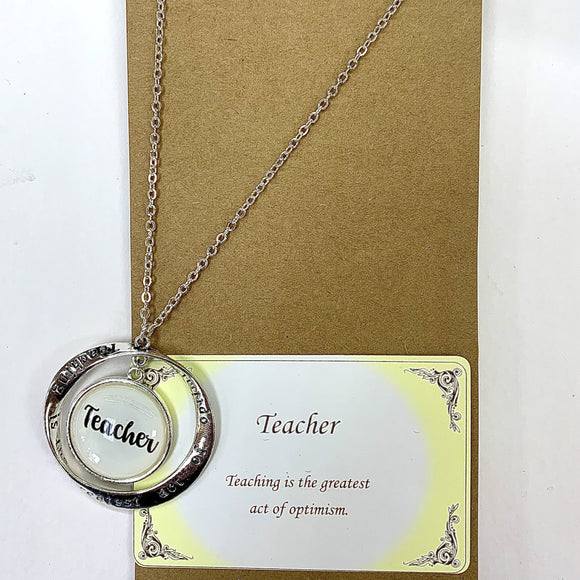 TEACHER MESSAGE NECKLACE