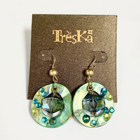 ST. MAARTEN DANGLE CRYSTAL EARRINGS BY TRESKA