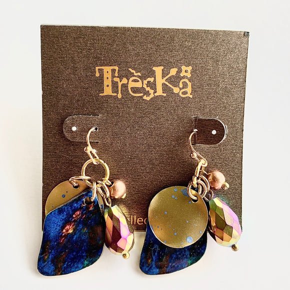 NEBULA COLLECTION DANGLE CHARM EARRINGS BY TRESKA