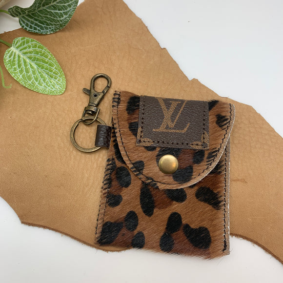 UPCYCLED LV HAND SANITIZER HOLDERS