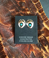 S/S BEAR PAW STUD (SINGLE) EARRINGS