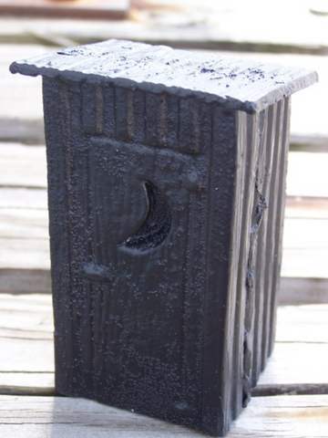 HANDCRAFTED COAL OUTHOUSE (LARGE)
