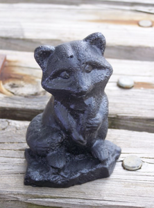 HANDCRAFTED COAL RACCOON - LARGE