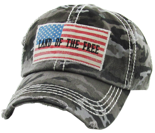 LAND OF THE FREE VINTAGE BASEBALL HAT