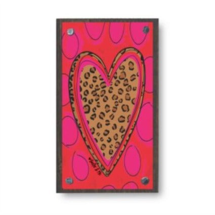 LEOPARD HEART HAPPY BLOCK by Baxter & Me