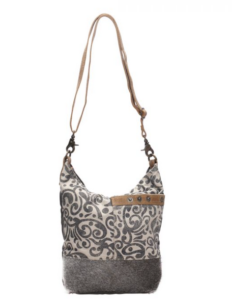 FLORAL PRINT SHOULDER BAG by MYRA BAGS