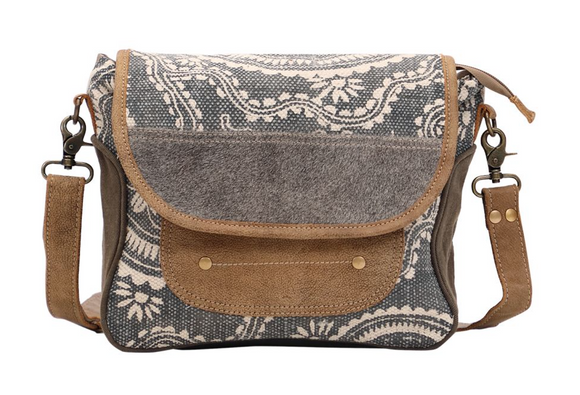 MIDNIGHT BLUE MESSENGER BAG by MYRA BAGS