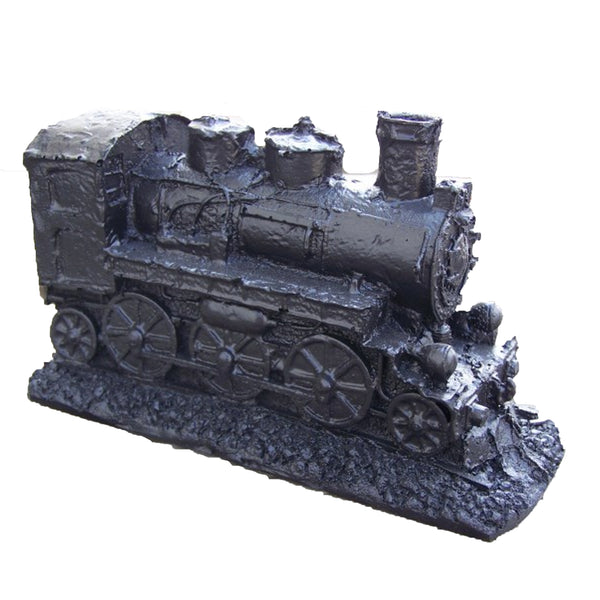HANDCRAFTED COAL STEAM ENGINE WITH STACK
