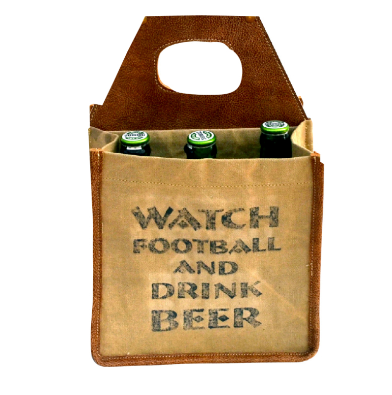 BEER TOTE - WATCH FOOTBALL DRINK BEER
