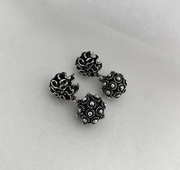 BLANC DE NOIR - CLASSIC PHIKOUN BALL STUD EARRINGS