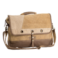 PLAIN LAPTOP MESSENGER CANVAS BAG