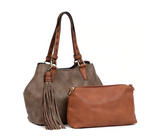 ALIZA SATCHEL WITH TASSEL