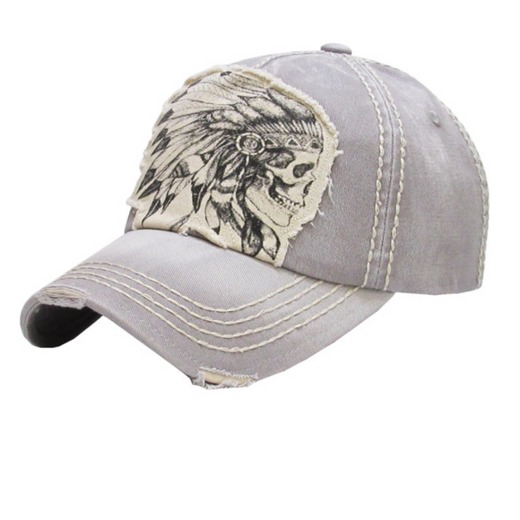 SKULL CHIEF BASEBALL CAP / HAT