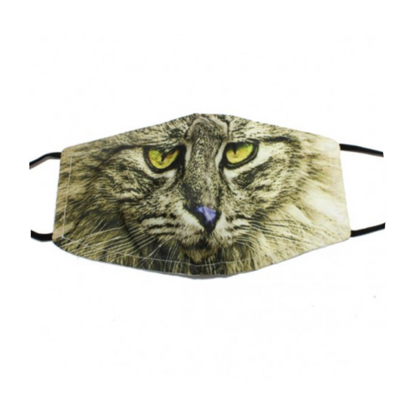 BROWN CAT FASHION FACE MASK