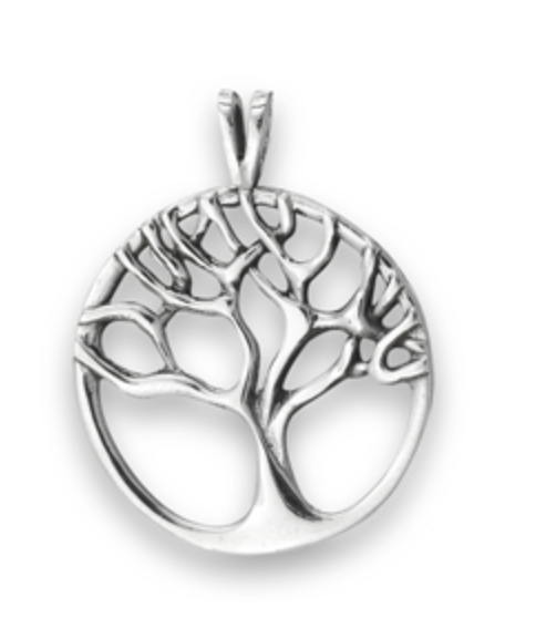 STERLING SILVER TREE OF LIFE NECKLACE (ROUND)