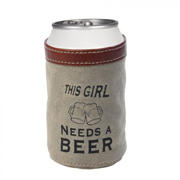 THIS GIRL NEEDS A BEER CAN HOLDER BY MYRA BAGS