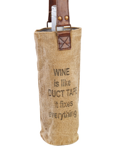 WINE TOTE - DUCT TAPE
