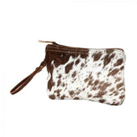 WHITE & BROWN HAIRON SMALL BAG BY MYRA BAGS