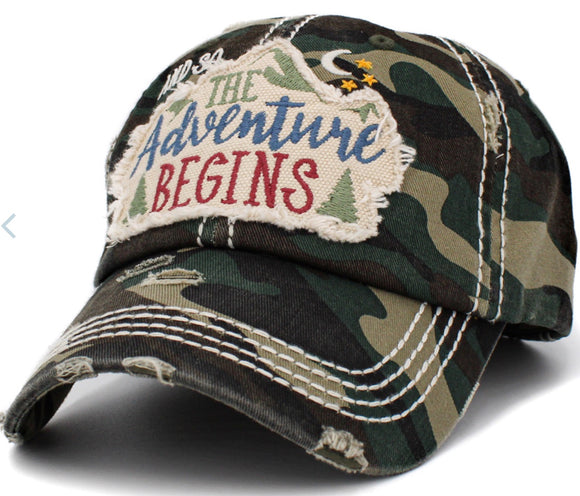 THE ADVENTURE BEGINS BALLCAP