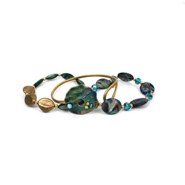 ST. MAARTEN THREE PIECE BRACELET SET BY TRESKA