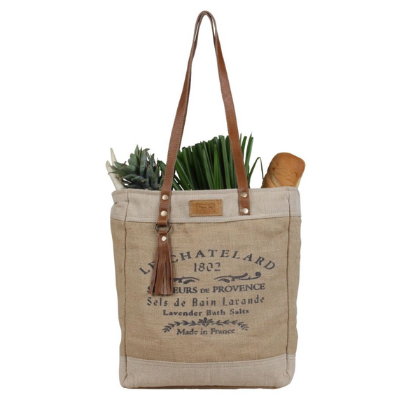OLD SCHOOL ORGANIC FABRIC MARKET BAG by Myra Bags