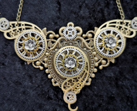 STEAMPUNK HANDMADE STATEMENT NECKLACE