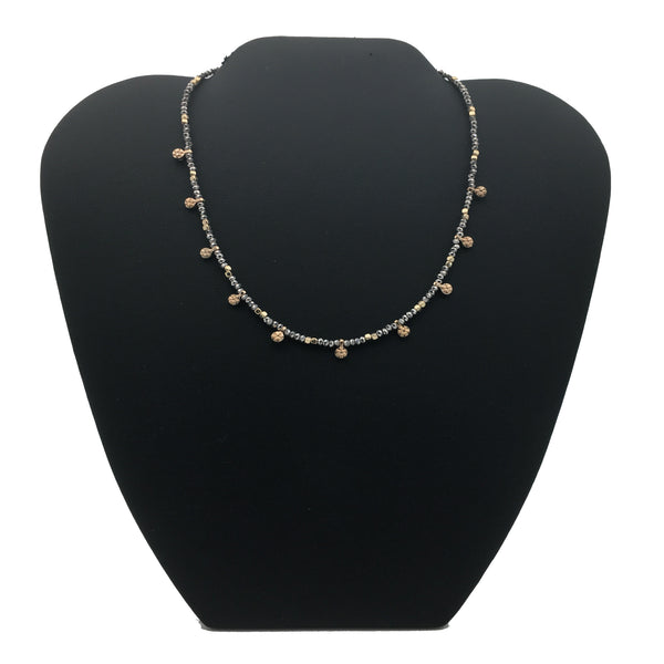 Beaded Neckless with Starburst Accent